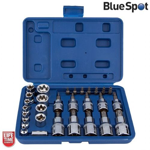 Blue Spot Tools 29pc Star Socket and Bit Set - Torx Sockets